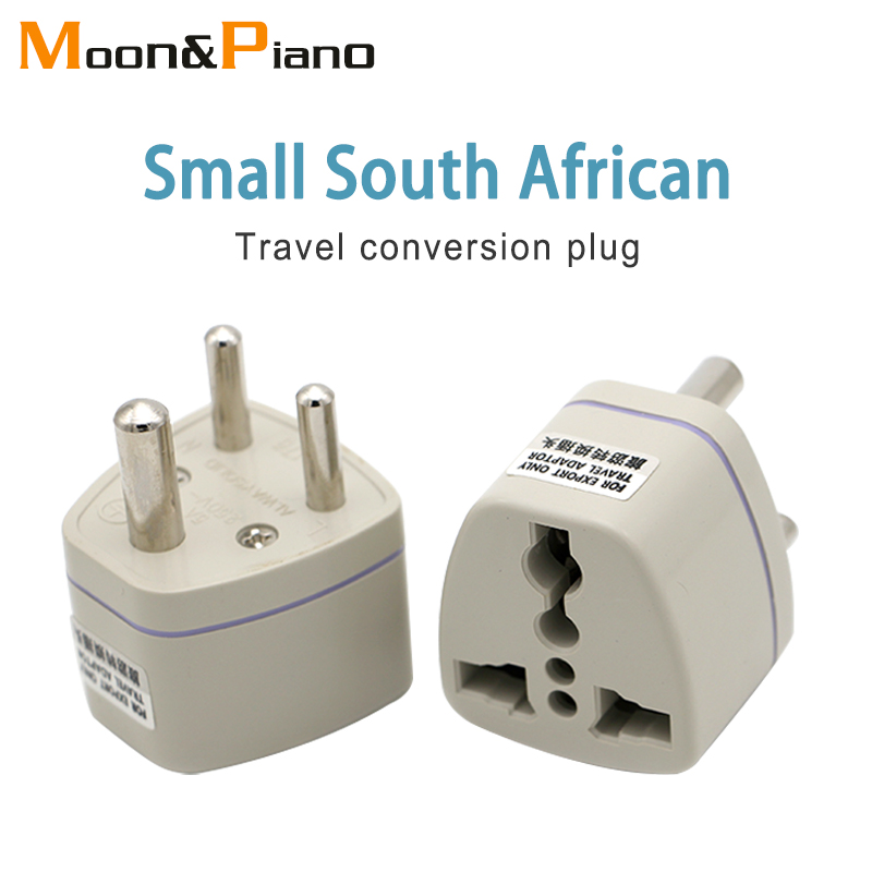 Universal Uk Us Eu Au To Small South Africa Plug Ac Multi Outlet Adapter 3 Pin Travel Converter Socket India