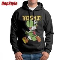 Yoshi Super Mario Bros Hoodie For Men Without Pocket Drop Shipping Autumn European Size Long Sleeve Camisa