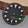 Watch Parts, Corgeut 30.4mm Black Sterile Watch Dial Rose Gold Marks for Unitas ETA 2824 2836 Automatic Movements
