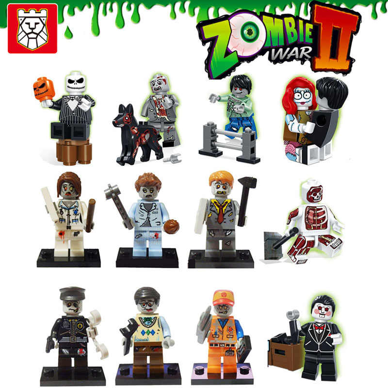 Kitoz Walking Dead Zombies KingNurse Policial Pequeno Toy Action Figure Building Block Bricks Compatível Com Presente Lego Para Meninos