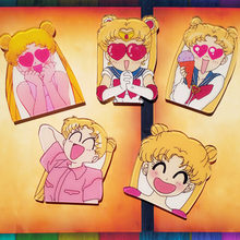 1PCS Kartun Harajuku Anime Kawaii Gadis Sailor Moon Acrylic Bros Lencana Ransel Anak-anak Pakaian Dekorasi Ikon Bros Pin(China)
