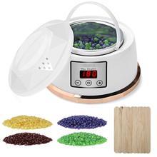 Cera mais quente depilação kit ajuste de temperatura constante aquecedor de cera parafina elétrica pote com 4 sabor cera feijão plugue da ue