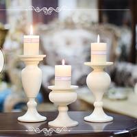 Fashion Mousse Decoration Romantic Props Iron Candlesticks American Vintage Wedding Dining Table Decoration