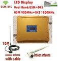 Lcd Dual Band GSM 900 mhz DCS1800mhz impulsionador GSM DCS repetidor de sinal de telefone celular amplificador GSM repetidor anatenna 1 conjunto