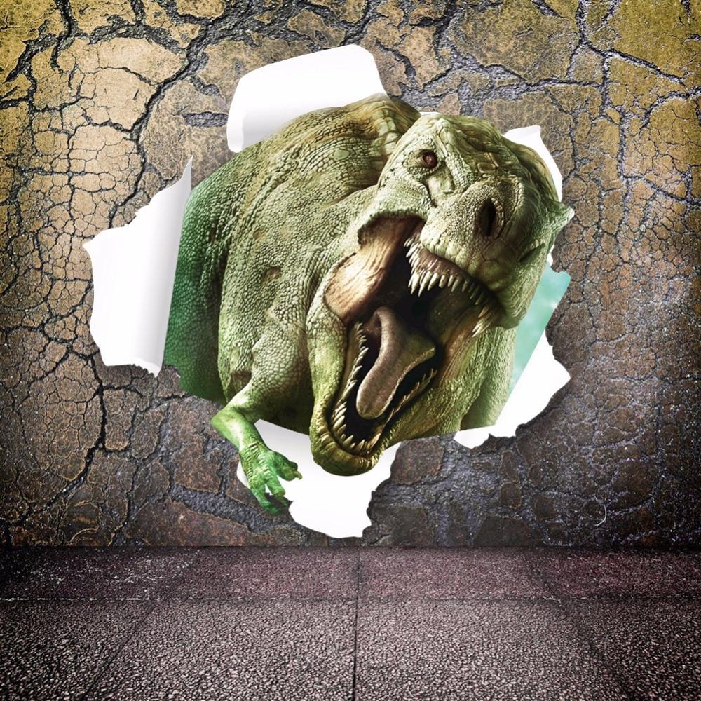 3D 공룡 벽 스티커 아이 방 벽 장식 비닐 데칼 쥬라기 - 가정 장식