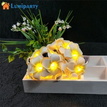 ФОТО lumiparty 20 led plumeria flower fairy string lights battery powered party wedding christmas decorative lighting