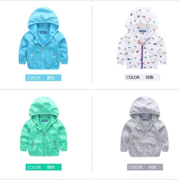 2017 spring children's clothing new boy windbreaker hooded jacket children's baby leisure wild jacket jacket