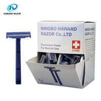 HAWARD RAZOR 100 Pcs Disposable Medical Razor 2 Blade With CE Certification Imported Stainless Steel Blade Disposable Razor