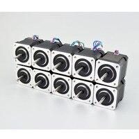 10PCS Nema 17 Stepper Motor Bipolar 59Ncm (84oz.in) 4 Lead 2A 48mm Length For DIY 3D Printer CNC Robot