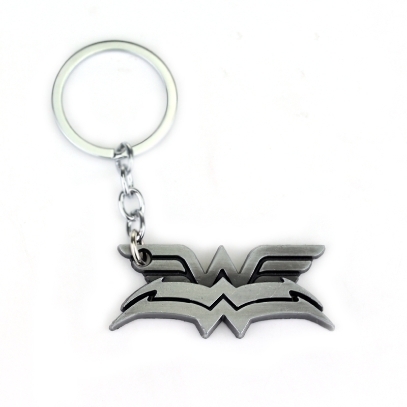 Avengers: Infinity War Material Keyring Movie Seriers Wonder Woman Keychain Double Deck Logo Keychain Pendant Gift For Friends