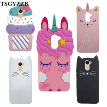 Cute 3D Cartoon Case For Huawei Y7 Unicorn Pink Cat Minnie Mouse Soft Silicone Back Cover Y 7/Y7 Prime Phone Cases