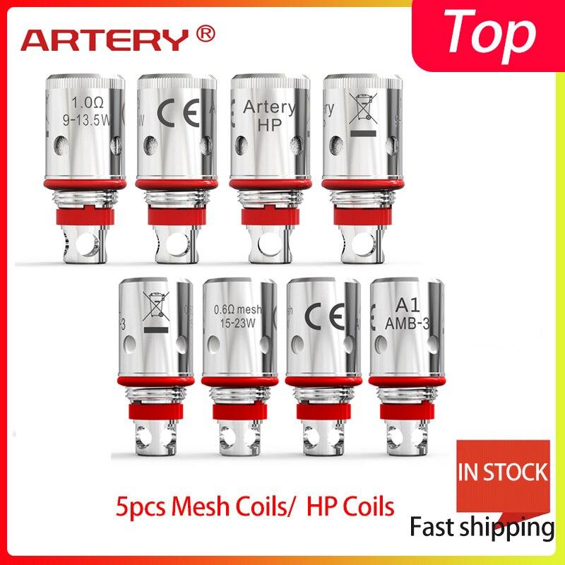 5 pçs/caixa acessórios Vape Artéria Pal AIO II 0.6 mesh coil/1.2ohm MTL Regular de bobinas Para PAL II AIO bobina de 1.0 HP/MALHA 0.6 ohm bobina