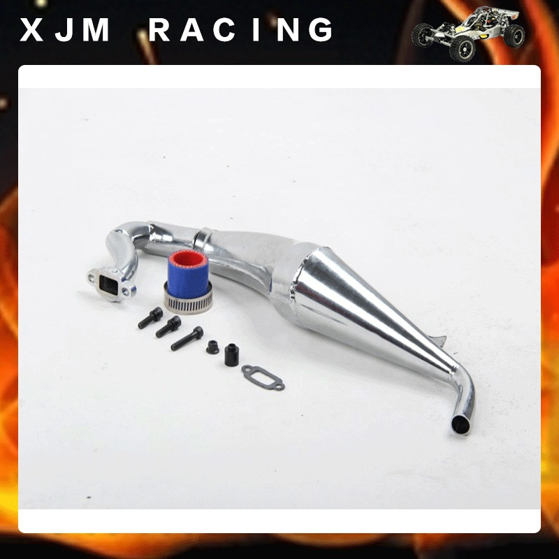 Rc car High speed tube Sonic version Dominant exhaust pipe(V2) for 1/5 hpi rovan km baja losi 5ive-T parts