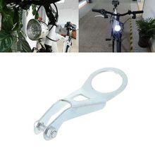 Soporte de luz Vintage para bicicleta, Faro, lámpara de ciclismo, Sensor Retro, soporte para generador, luces LED, montaje de luz frontal, MTB de alta calidad