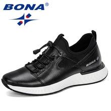 BONA 2019 새로운 인기 캐주얼 신발 남자 야외 운동화 신발 남자 편안한 유행 남자 산책 신발 Tenis Feminino Zapatos