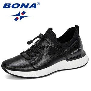 Image 1 - BONA 2019 nouveau populaire chaussures décontractées hommes en plein air baskets chaussures homme confortable à la mode hommes marche chaussures Tenis Feminino Zapatos