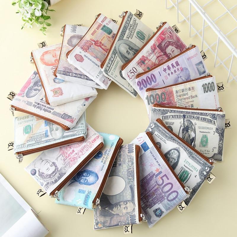 2016 New creative novel Women paper money Wallet men Canvas cute Coin Purse fashion Organizer Bag zipper Clutch kids Card Holder