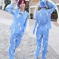 Нападение на Titan Косплей Взрослый Костюм Нападение на Titan Shingeki нет Kyojin Аниме Косплей Пижамы Костюм Верх + Брюки + шляпа С Длинными Рукавами