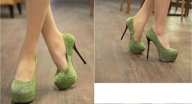 140&160 mm rhinestone sexy high heel shoes woman 2015 platform ...