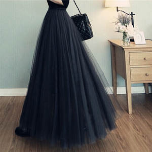 Tulle Skirt Women Tutu Mid-Calf Casual New 80-100CM 8SK007
