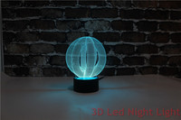 Birthday Gift 3D Led Illusion Fashionable Wholesale Table Lamps with UL Certificate