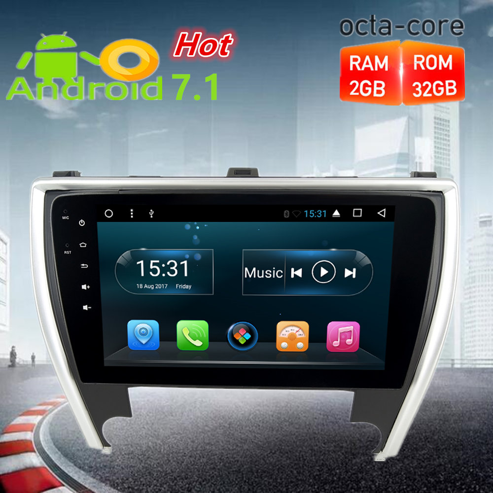 10 1 Octa Core Android7 1 Car Radio GPS Stereo For Toyota Camry 2015 2016 2017
