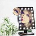 10X Lupa Ajustable Lámpara de Mesa Tocador 20 Led Luminoso Iluminado LED de Pantalla Táctil del Espejo de Maquillaje Espejo 180 Espejo Giratorio