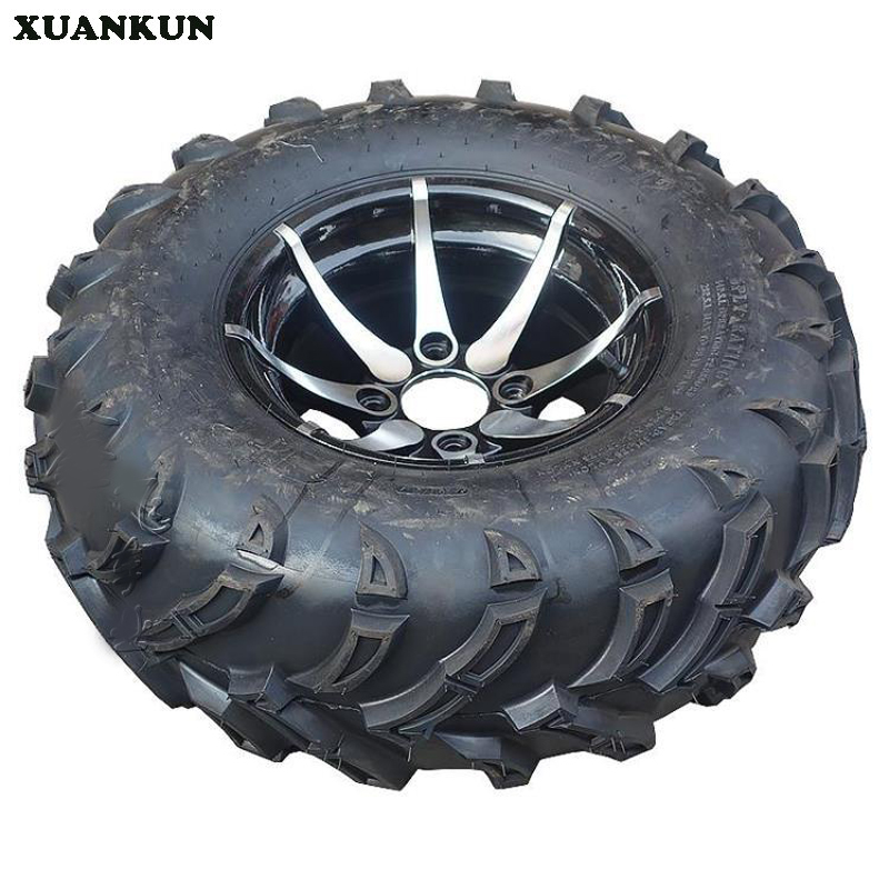XUANKUN Four Round Karts ATV 25X8-12 25X10-12 Inch Off-Road Tires Aluminum Wheels image