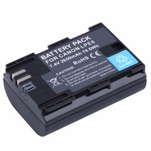 Rechargerable 2650mAh LP-E6 LP E6 LPE6 Camera Battery For Canon EOS 5DS 5D Mark II Mark III 6D 7D 60D 60Da 70D 80D DSLR EOS 5DSR все цены