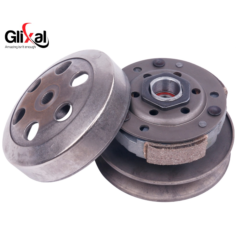 Glixal GY6 49cc 50cc Gas Scooter Complete Rear Clutch assembly for TAOTAO SUNL ZNEN 139QMB 139QMA Engine Moped приводной ремень для мотоцикла 669 18 30 50cc cvt vespa taotao schwinn