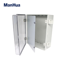 MANHUA Waterproof box 400*300*170mm IP65 ABS Polycarbonate Enclosure Box junction box with a front panel Distribution enclosure