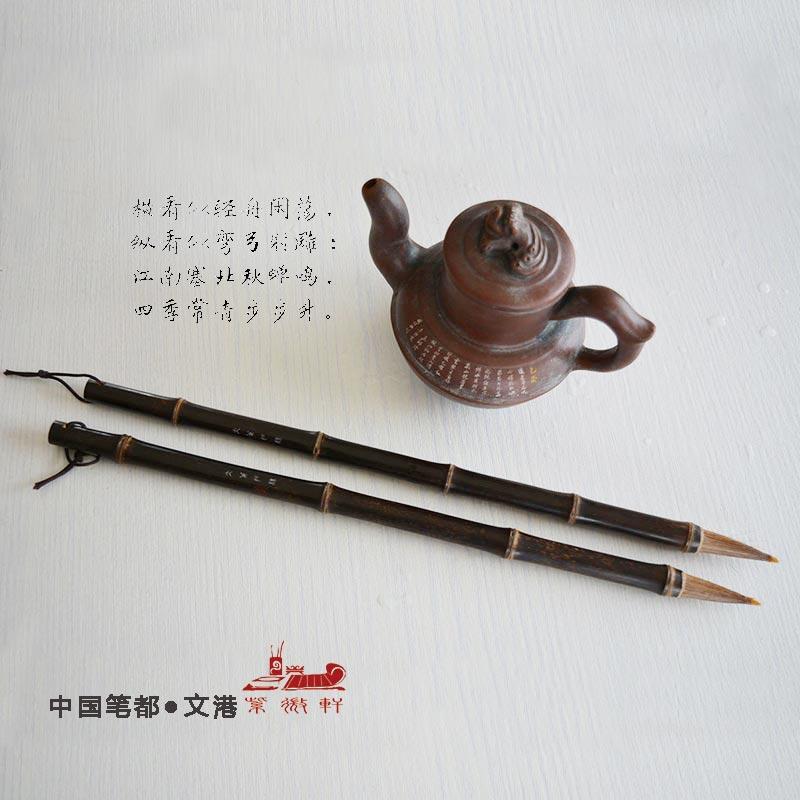 Chinois peinture pinceau Naturel bambou pôle cheval Cheveux régulière script cursive de calligraphie pinceau peinture calligraphie