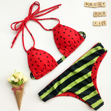 Sandía Impreso Beachwear Bikini 2016 Verano Mujer Sexy Traje de Baño Bikini Push Up Bikini Set Maillot de baño Bathsuit