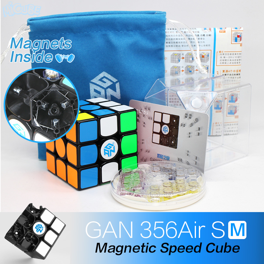 GAN 356 Air SM Speed Cube Magnetic Positioning Superspeed Magneto 3x3 Cubo Magico Gan356 Air SM 3x3x3 Magnetic Cube Magic Cube