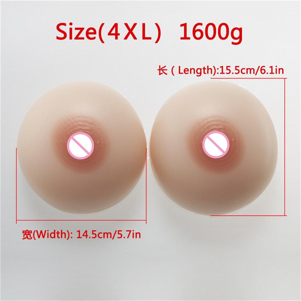 (1600 г/пара круглый бежевый силиконовые сиськи + сексуальные розовый прозрачный кружевной карман бюстгальтер) CD Косплэй транссексуал силиконовая грудь с бюстгальтера - 4