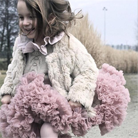 3p237 Baby girls Tutu Skirt Pettiskirt for kids summer Fluffy 2017 New Solid Colors wholesale kids toddler clothes