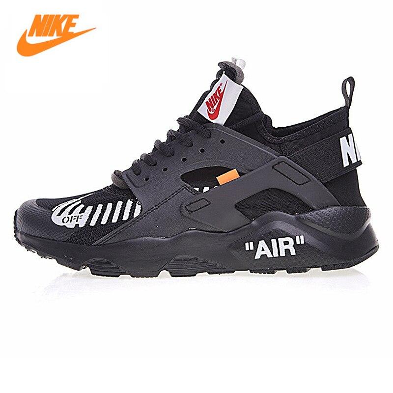 Nike Off-White mt для Air Huarache Для мужчин дышащие Кроссовки, оригинальный мужской спортивный Спортивная обувь Обувь