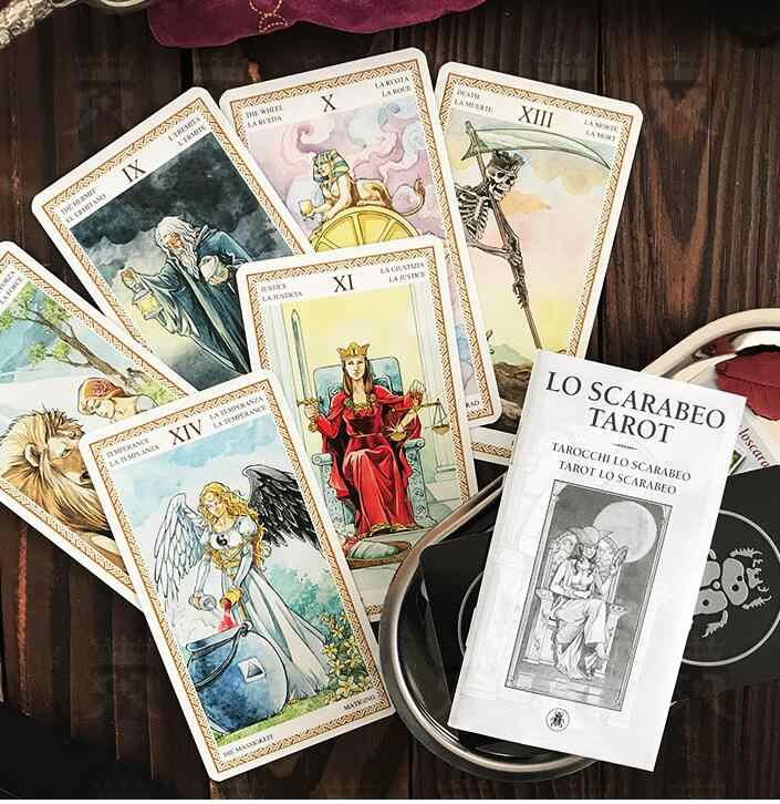 Full English Lo Scarabeo Tarot Cards Factory Made High Quality Tarot Deck Board Game Cards Board Games Aliexpress