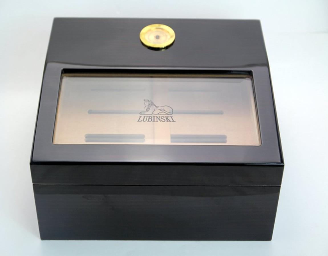 Black sandal cedar wood cigar box