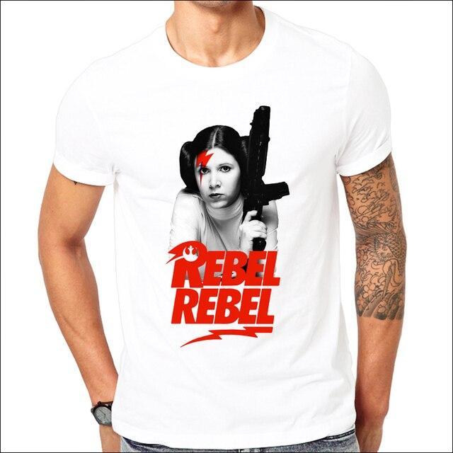 03ec8d9bc3a0e5 Star Wars Yoda Darth Vader Princess Leia Rebel Rebel T-Shirt Funny DAVID  BOWIE JEDI
