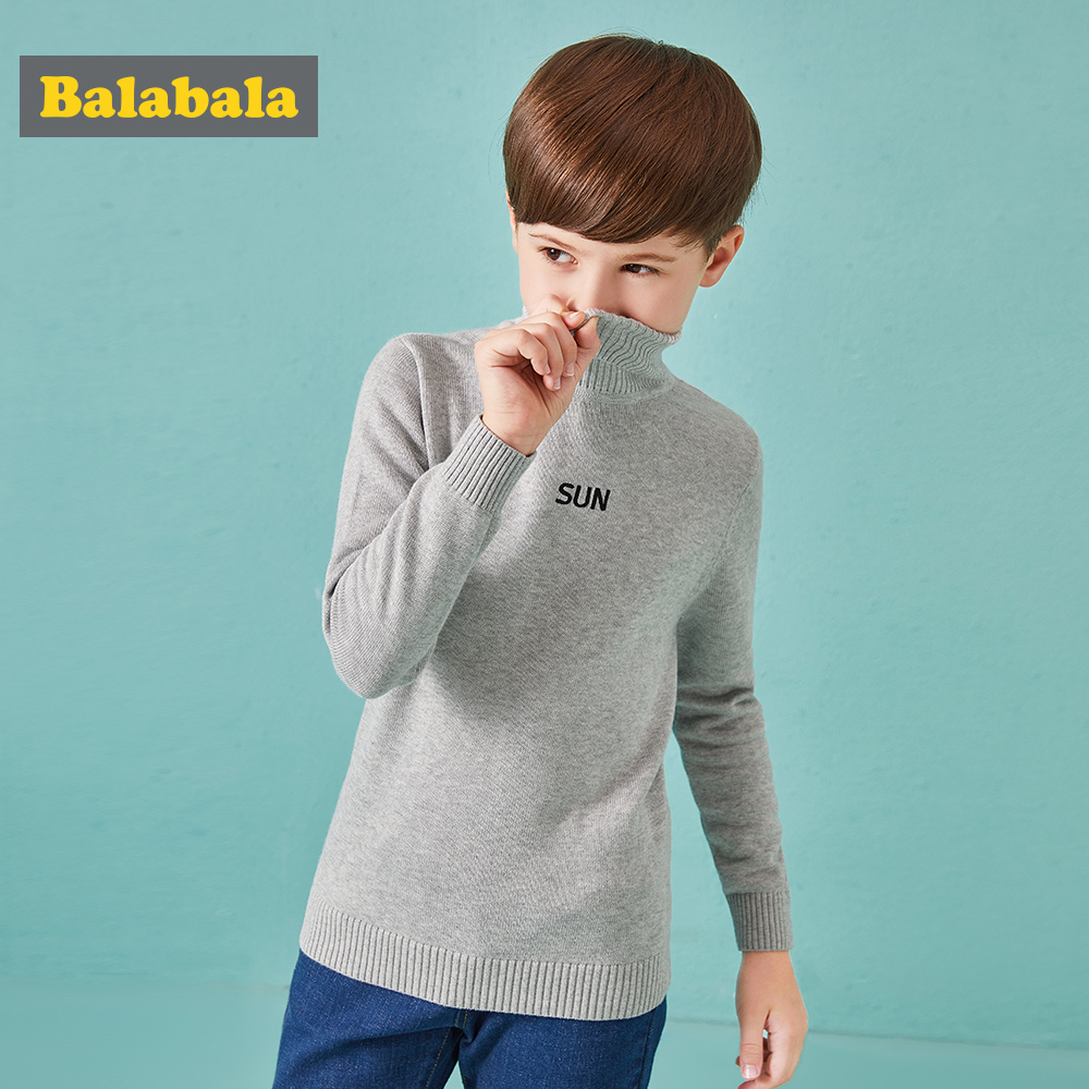 Children Boys Sweater Knitwear Sleeve Autumn 2018 New Children Sweater For Boy Cotton Soft Hair Letters Embroidered Boys Sweater цена