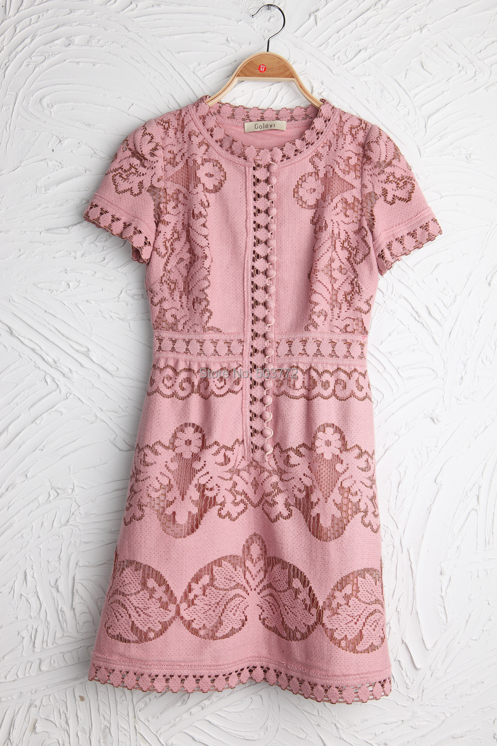 Top Quality Inspired Designer Cutout Embroidery Dresses Silk Cotton