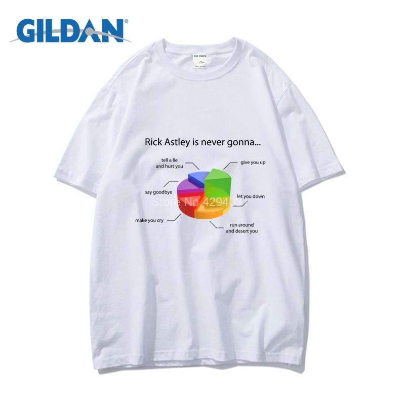 Rick Astley Pie Chart Tee 2018 100 Cotton Design T Shirt Clothing