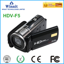 FHD 1080p digital video camera HDV-F5 Marco+wide angle lens LED light flash HDMI output built-in microphone digital camcorder