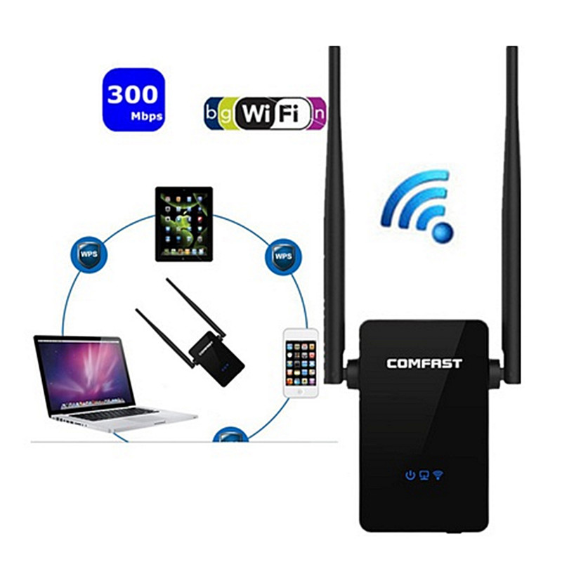 300Mbps Dual Band 2.4G Wireless Repeater 802.11AC Router WiFi Extender TSUS High Quality
