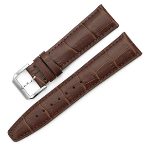 Image 3 - iStrap High quality Alligator Grain Genuine Leather Watch Band Strap Bracelet Butterfly Deployment Clasp 20mm 21mm 22mm for IWC