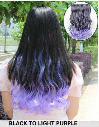 One piece colored ombre hair extensions colorful long wave hair one piece colored ombre hair extensions colorful long wave hair clip in synthetic hairpieces16 color 18 inchfree shipping on aliexpress alibaba pmusecretfo Images