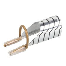 5pcs Nail Art Silver Foil Reusable Acrylic Uv Gel Forms Shape French False Silver