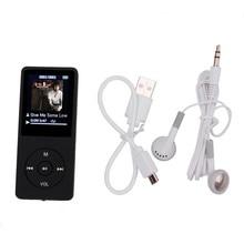 Mejor Precio 1.8 pulgadas TFT Negro 16G MP3 Reproductor de Música de Sonido Sin Pérdidas de Alta Fidelidad FM Grabador de Tarjeta TF