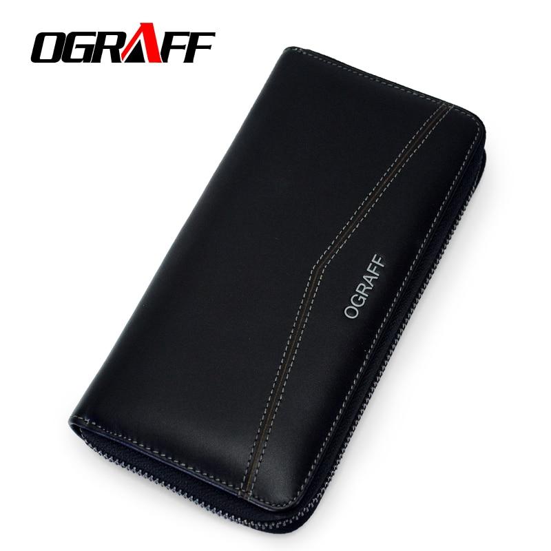OGRAFF Men Wallet Men Genuine Leather Coin Purse Clutch Male Wallet Card Holder Men Clutch Money Bags Men Purse Organizer Wallet